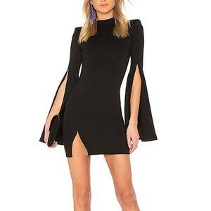 Michael Costello x Revolve black mini dress